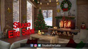 فيديو يظهر كيف زيّن استديو ايلي سابا بطريقة غريبة بمناسبة عيدي الميلاد ورأس السنة