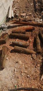العثور على قذائف قديمة العهد في بئر عربي قديم في سهل بلدة تعلبايا
