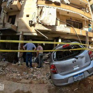 بالصور اضرار انفجار طريق الجديدة
